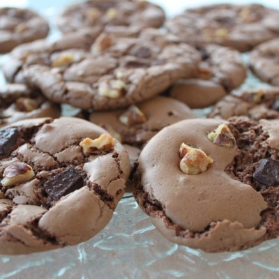 Galletas de chocolate y nueces sin gluten